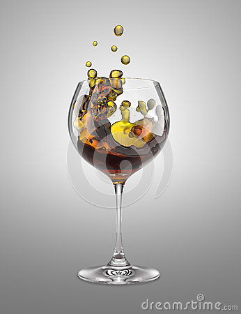 Brown wineglass