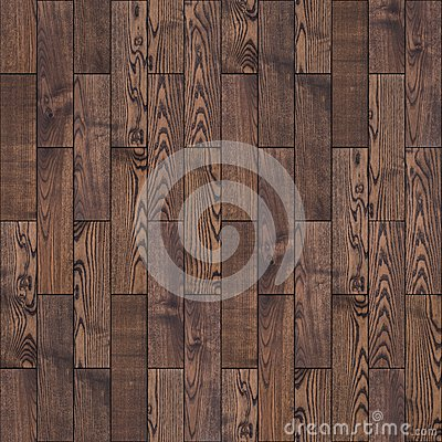 Brown Wood Parquet Floor. Seamless Texture. Stock Photo