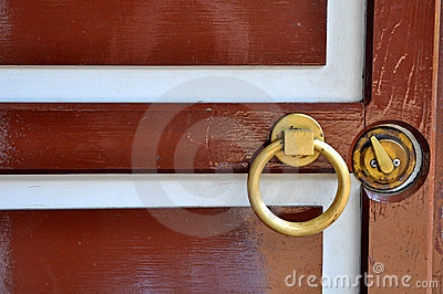 Brown wooden door