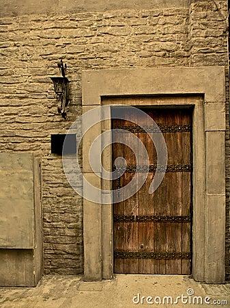 Brown wooden door, house related