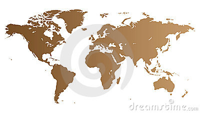 Brown World map