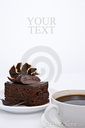 Brownie cake with luxury cream topping