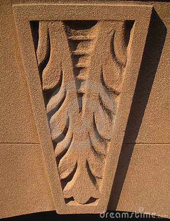 Brownstone carved accent
