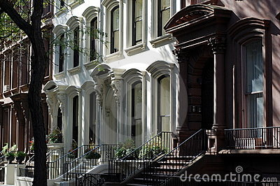 Brownstone homes, Brooklyn Heights, New York City