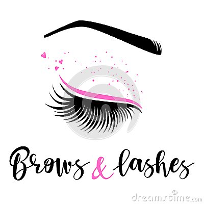 Free Brows And Lashes Logo Royalty Free Stock Image - 106806596
