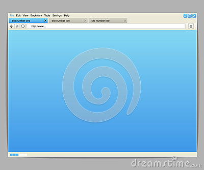 Browser window template
