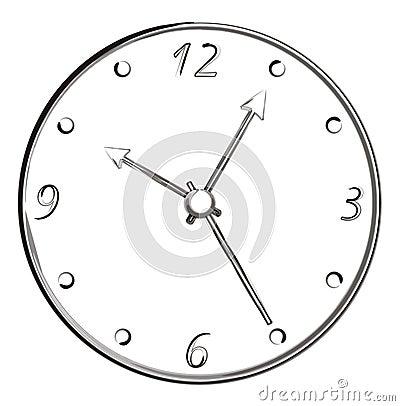 Bürsten-Anschlag-Kunst - Uhr