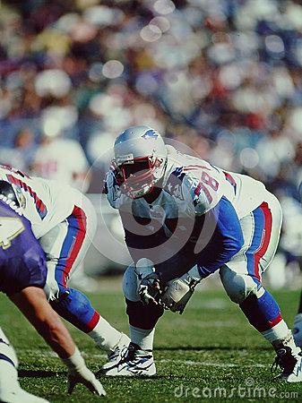 Bruce Armstrong, New England Patriots Editorial Photo