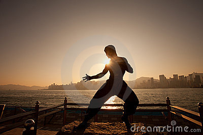 Bruce lee s statue Editorial Photo