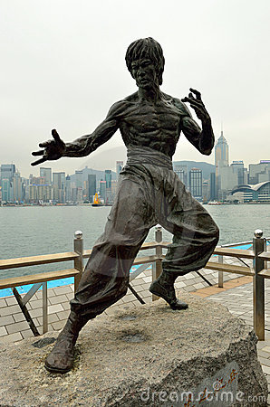 Free Bruce Lee Statue Royalty Free Stock Photos - 23223598