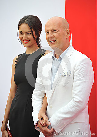 Free Bruce Willis & Emma Heming Royalty Free Stock Photo - 46151265