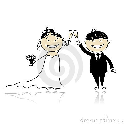 Brudceremonibrudgum som gifta sig tillsammans