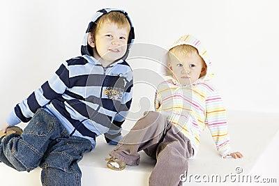 Bruder mit Schwester