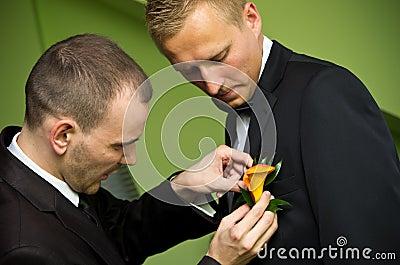 Brudgum och bäst man