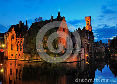 Bruges by Night, Belgium