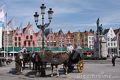 Bruges horses Editorial Photography