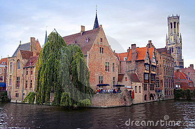 Bruges panoramic view