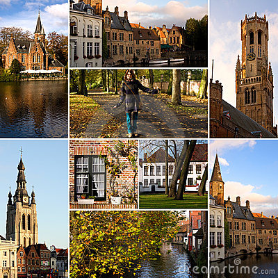 Bruges - tourism collage