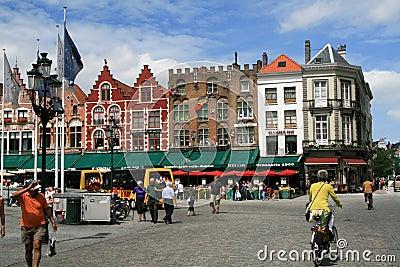 Brugge, Burges Grote Markt Square Editorial Photo