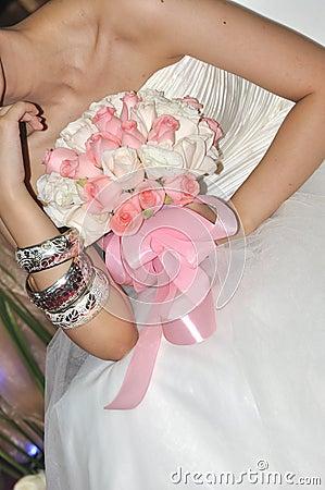Bruid en boeket