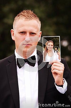 Bruidegom en bruid