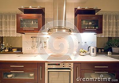 Bruin keukenbinnenland