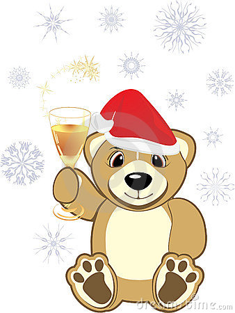 Free Bruin With Glass Of Champagne Stock Photos - 11969323
