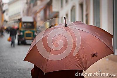 Bruine paraplu