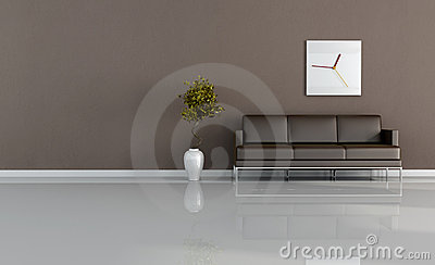 Bruine woonkamer stock afbeelding afbeelding 8337871 - Afbeelding eigentijdse woonkamer ...