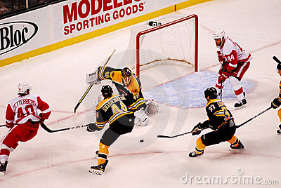 Bruins v. Red Wings NHL hockey Editorial Photo