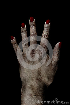 Bruised Dead Female Hand Photo Manipulation