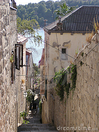 Brukująca Croatia street
