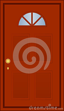 Brun dörr