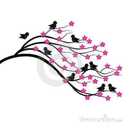 Brunch dell albero con gli uccelli