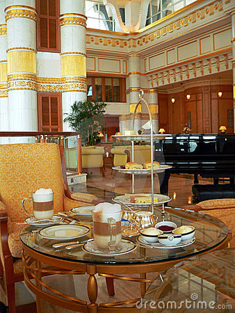 Brunei. Set High-Tea Table