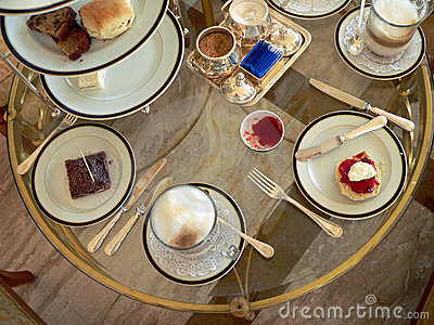 Brunei. Set High-Tea Table (aerial)