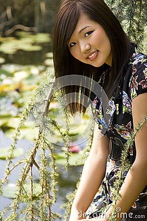 Brunette asian girl