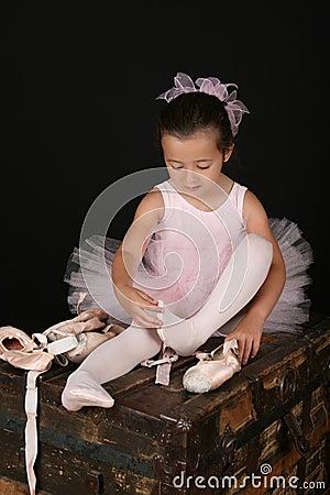 Brunette ballet girl