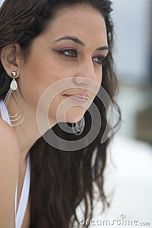 Brunette close-up.