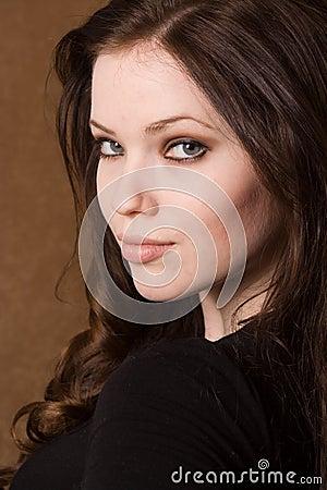 Free Brunette Face Stock Image - 2090781