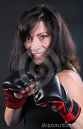 Free Brunette Fighter Stock Photography - 19306562