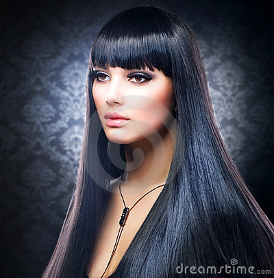 Free Brunette Girl. Healthy Long Hair Stock Image - 22808481