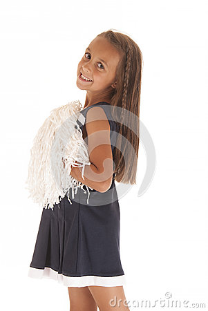 Free Brunette Girl In Cheerleading Outfit Looking Sideways With Braid Stock Images - 34126934