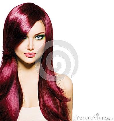 Brunette Girl with Long Hair