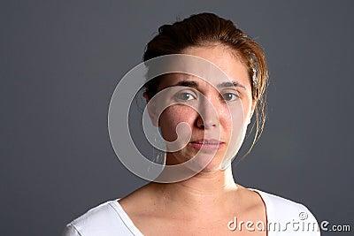 Brunette girl sad