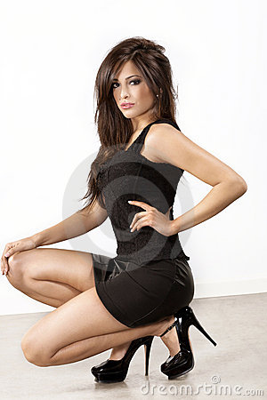 Free Brunette In High Heels Royalty Free Stock Photos - 18588048