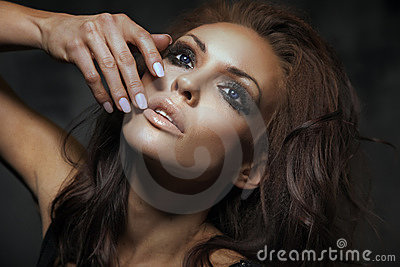 brunette lady