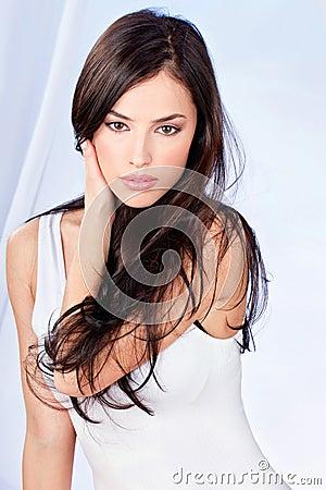 Brunette long hair woman