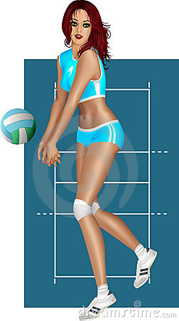 Free Brunette Playing Volley Royalty Free Stock Photography - 16818437