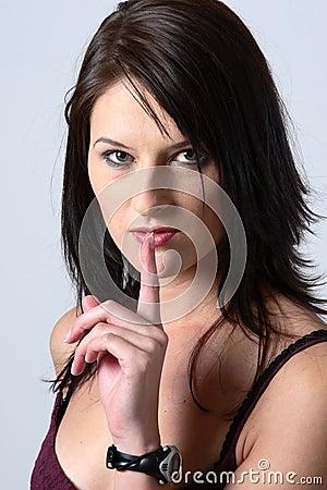 Brunette shhhh